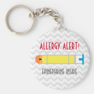 Porte-clés Porte - clé d'alerte d'allergie d'adrénaline