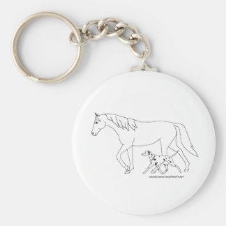 Porte-clés Porte - clé -- Dalmate et cheval