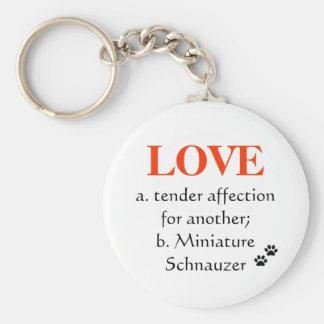 Porte-clés Porte - clé d'amour de Schnauzer miniature