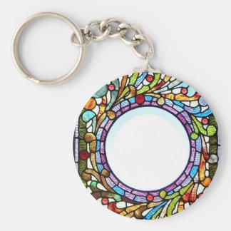 Porte-clés Porte - clé d'anneau en verre souillé