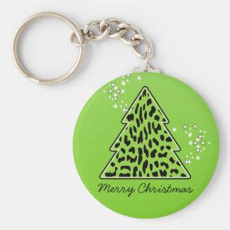 Porte-clés Porte - clé d'arbre de Noël de guépard de léopard