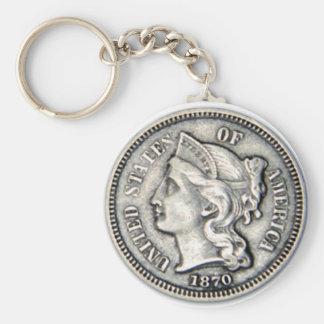 Porte-clés Porte - clé d'argent de morceau de trois cents.