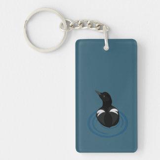 Porte-clés Porte - clé d'art de vecteur de guillemot de
