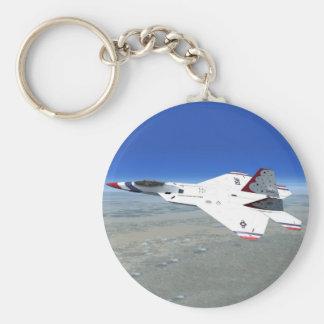 Porte-clés Porte - clé d'avion de combat de jet d'anges bleus