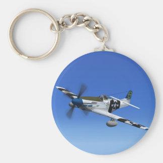 Porte-clés Porte - clé d'avion de combat de P51Mustang 2ÈME