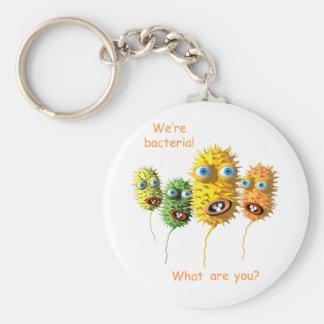 Porte-clés Porte - clé de bactéries de bande dessinée
