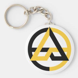 Porte-clés Porte - clé de base de bouton de Voluntaryist