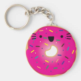 Porte-clés Porte - clé de beignet de chat de fraise étiré