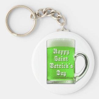 Porte-clés Porte - clé de bière de vert du jour de St Patrick