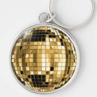 Porte-clés Porte - clé de boule de disco d'or de partie