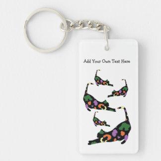 Porte-clés Porte - clé de bout droit de chat - empreinte de