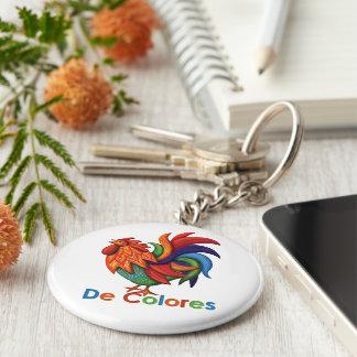 Porte-clés Porte - clé de bouton de De Colores Rooster Gallo