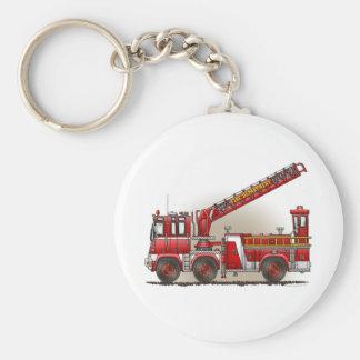 Porte-clés Porte - clé de camion de pompiers de crochet et