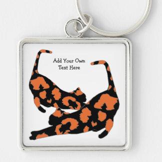 Porte-clés Porte - clé de carré de bout droit de chat -