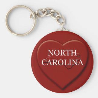 Porte-clés Porte - clé de carte de coeur de la Caroline du