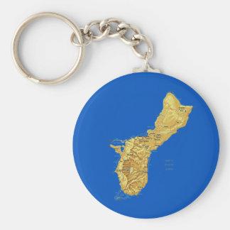 Porte-clés Porte - clé de carte de la Guam