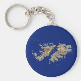 Porte-clés Porte - clé de carte des Îles Falkland