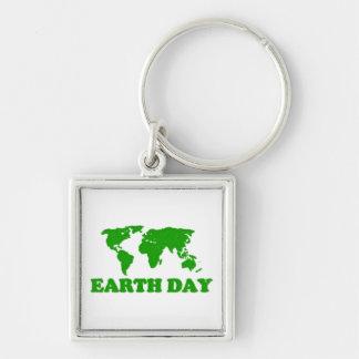 Porte-clés Porte - clé de carte d'herbe de jour de la terre