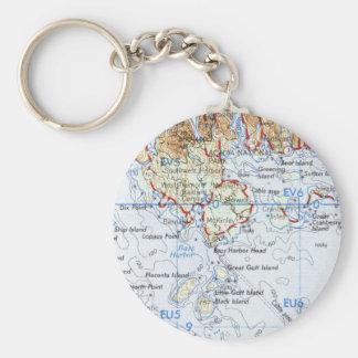 Porte-clés Porte - clé de carte d'île de Gotts