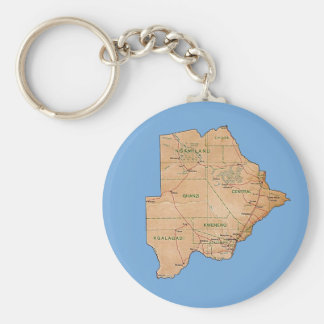 Porte-clés Porte - clé de carte du Botswana