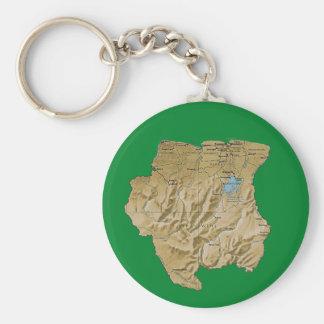 Porte-clés Porte - clé de carte du Surinam