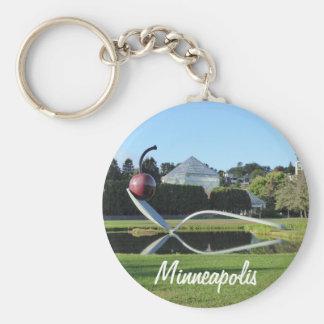 Porte-clés Porte - clé de cerise de Minneapolis et de photo