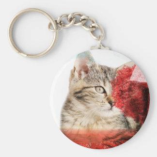 Porte-clés Porte - clé de chat tigré