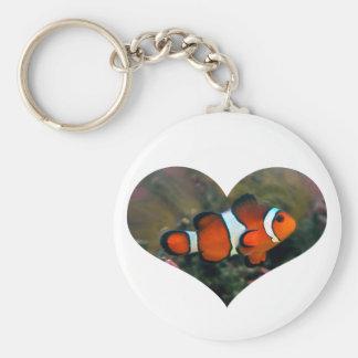 Porte-clés Porte - clé de coeur de Clownfish