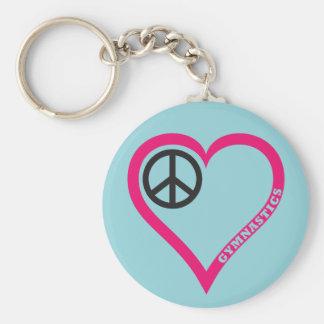 Porte-clés Porte - clé de coeur de gymnastique