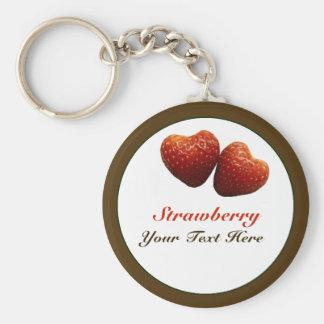 Porte-clés Porte - clé de coeurs de fraise