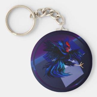 Porte-clés Porte - clé de combat noir de coq