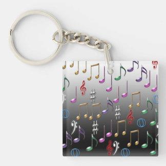 Porte-clés Porte - clé de conception de notes musicales