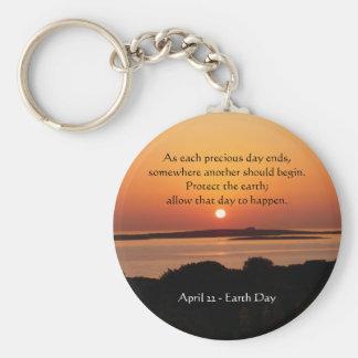 Porte-clés Porte - clé de coucher du soleil de jour de la