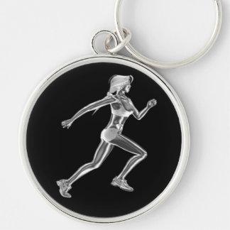 Porte-clés Porte - clé de coureur de chrome de dames