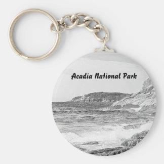 Porte-clés Porte - clé de croquis de rivage d'Acadia