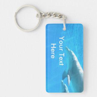 Porte-clés Porte - clé de dauphins de natation