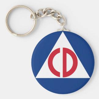 Porte-clés porte - clé de défense civile