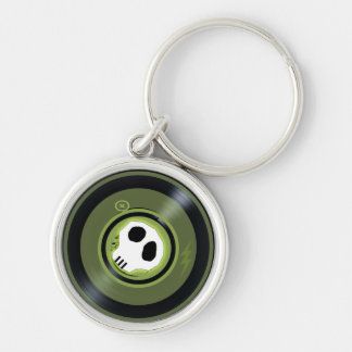 Porte-clés Porte - clé de disque vinyle de crâne