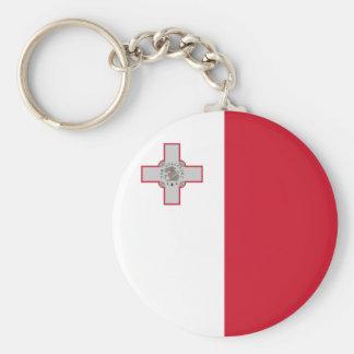 Porte-clés Porte - clé de drapeau de Malte