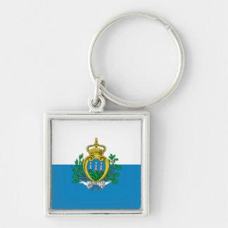 Porte-clés Porte - clé de drapeau du Saint-Marin