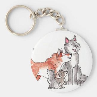 Porte-clés Porte - clé de famille de loup