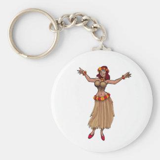 Porte-clés Porte - clé de fille de danse polynésienne