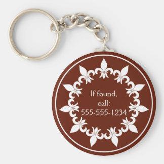 Porte-clés Porte - clé de Fleur de Lis Chocolate
