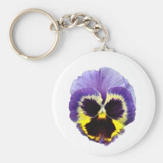 Porte-clés Porte - clé de fleur de pensée