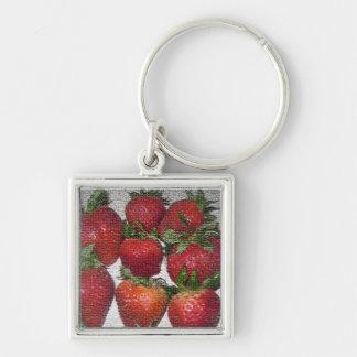 Porte-clés Porte - clé de fraise