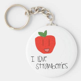 Porte-clés Porte - clé de fraises