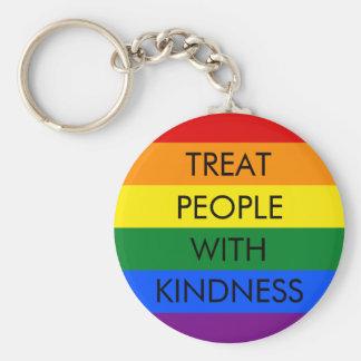 Porte-clés Porte - clé de gentillesse d'arc-en-ciel