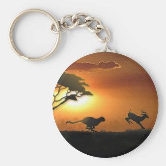 Porte-clés Porte - clé de guépard et de gazelle
