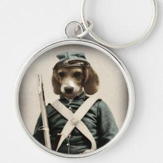 Porte-clés Porte - clé de guerre civile de beagle de chien de