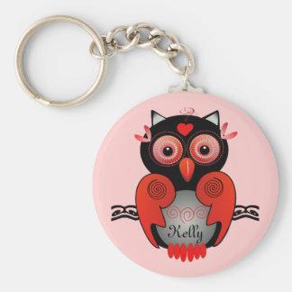 Porte-clés Porte - clé de hibou avec le nom